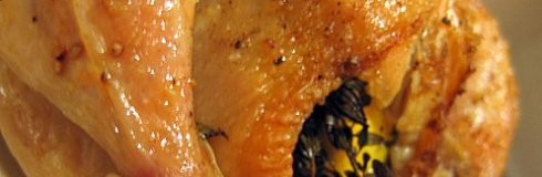 Garlic Roast Chicken With Lemon & Thyme