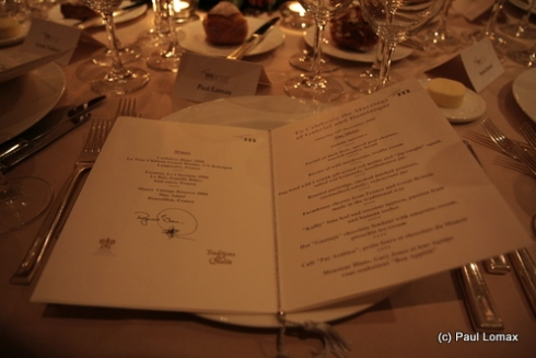 The wedding dinner menu