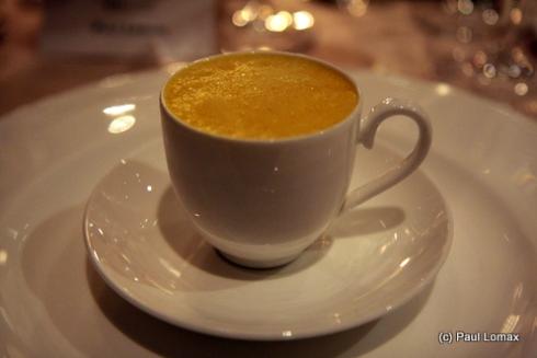 Assiette apéritive, pumpkin soup