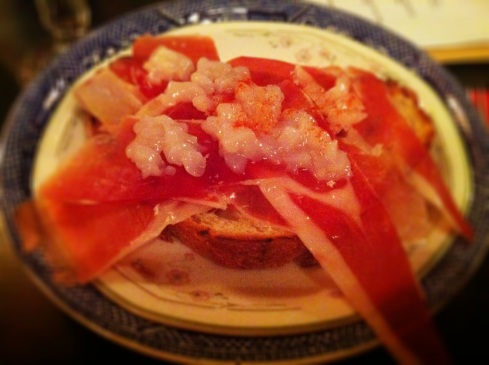 Hand-dived scallops with jamon iberico