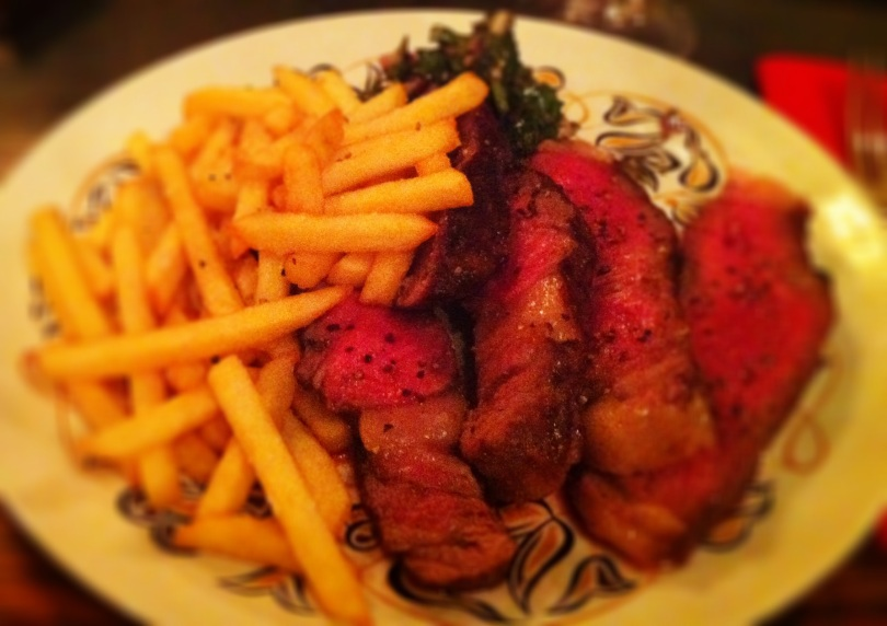Côte du Boeuf with beef dripping frites and chimichurri